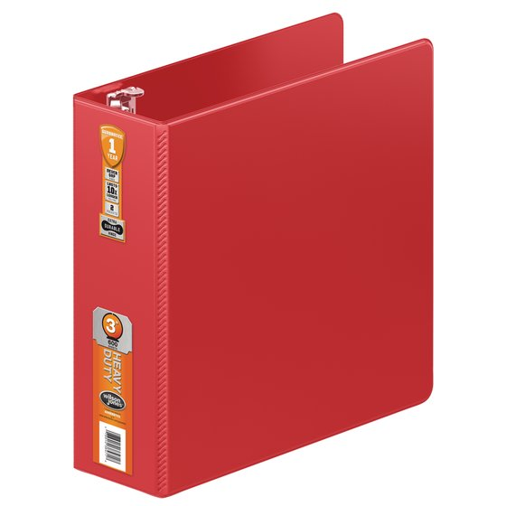 Wilson Jones® Heavy Duty Round Ring Binder with Extra Durable Hinge, 3""