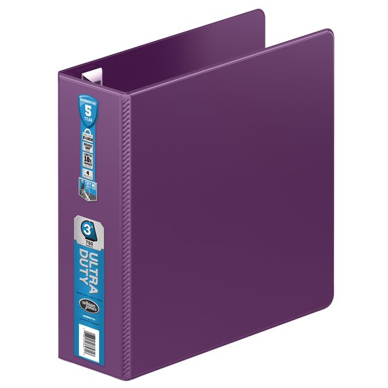 Wilson Jones® Ultra Duty D-Ring Binder with Extra Durable Hinge, 3""