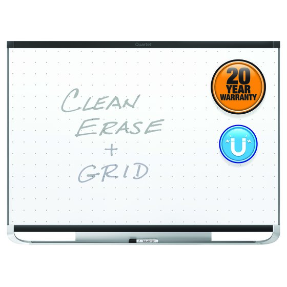 Quartet® Prestige® 2 Total Erase® Magnetic Whiteboards, Black Aluminum Frame