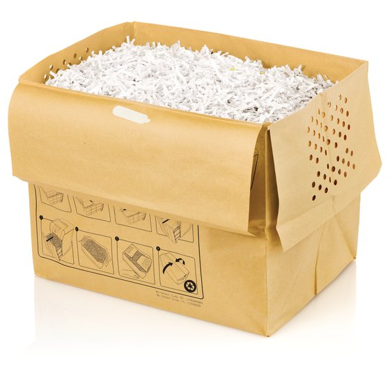 Swingline® 11 Gallon Recyclable Paper Shredder Bags, For Stack-and-Shred™ 250X, 300X and 300M Auto Feed Shredders, 5/Pack