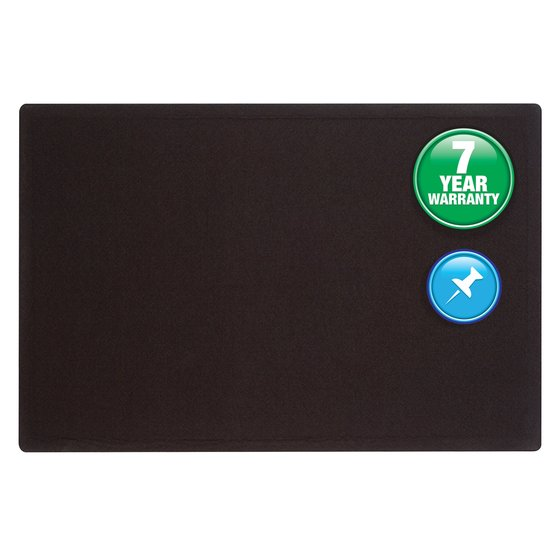 Quartet® Oval Office™ Fabric Bulletin Boards, Black Fabric
