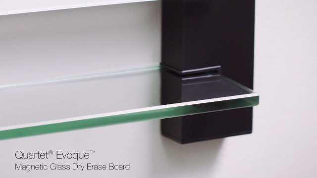 quartet boards whiteboards glass dryerase boards quartet evoque magnetic glass dryerase boards with invisible mount black aluminum frame - Glass Dry Erase Board