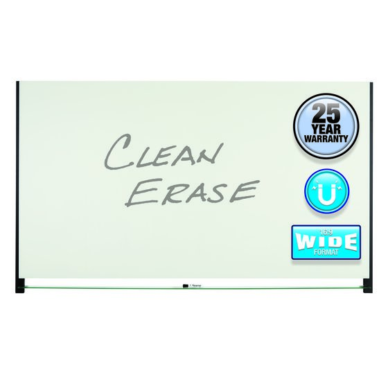 Quartet® Evoque™ Magnetic Glass Dry-Erase Boards with Invisible Mount, Black Aluminum Frame