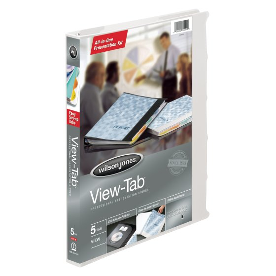 Wilson Jones® View-Tab® Presentation Binders, 5/8""