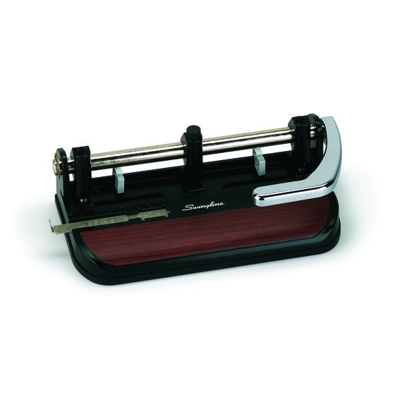 Swingline® Accented Heavy Duty Punch, 2 - 7 Holes, Adjustable Centers, 40 Sheets