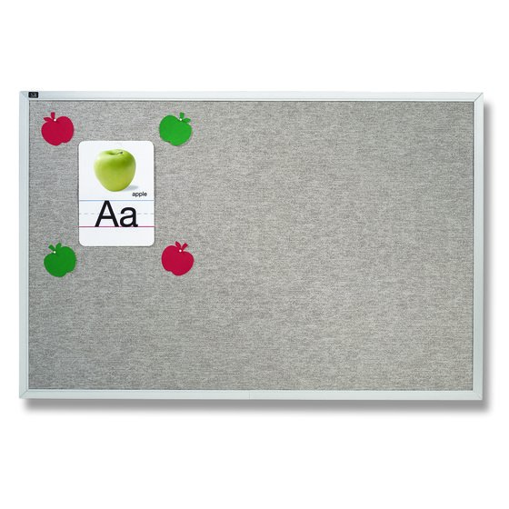 Quartet® Vinyl Tack Bulletin Boards, Gray with Aluminum Frame