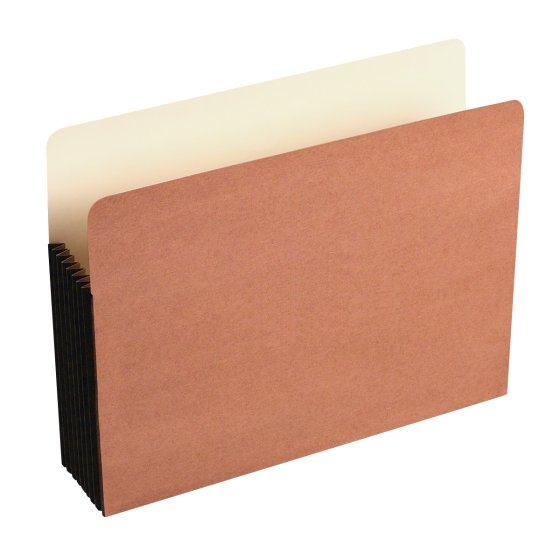 Wilson Jones® Red Rope File Pockets, Full Tyvek® Gussets
