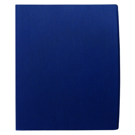 GBC® Designer Two Pocket Folder, 60 Sheets, Dark Blue, 5 Pack