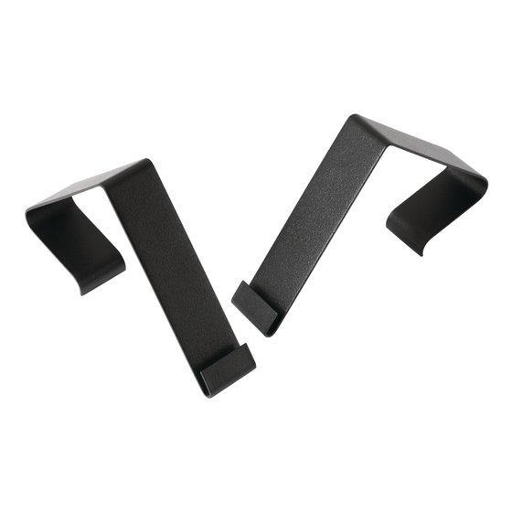 "Quartet Matrix® Cubicle Partition Hangers, Fits 1.5"" – 2.5"" Cube Walls, Black"