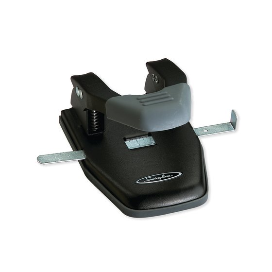 "Swingline® Comfort Handle 2-Hole Punch, 50% Easier, 1/4"" Hole Size, 28 Sheets"