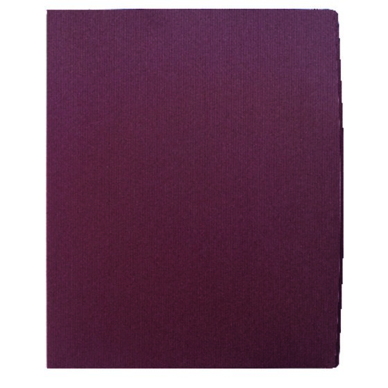 GBC® Designer Two Pocket Folder, 60 Sheets, Burgundy, 5 Pack