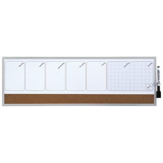 Magnetic Dry-Erase Weekly Organiser 585x190mm