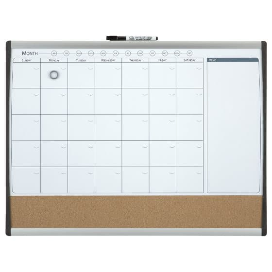 Magnetic Monthly Organiser Combi Board 585x430mm