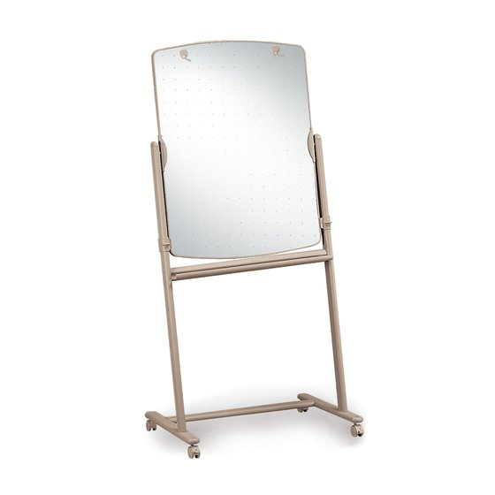 "Quartet® Reversible Total Erase® Mobile Easel, Whiteboard, 31"" x 41"", Neutral Frame"