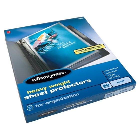 Wilson Jones® Heavy Weight Top-Loading Sheet Protectors