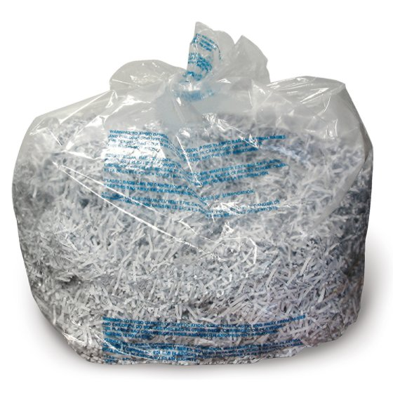 GBC 30 Gallon Plastic Shredder Bags, For 600X, 600M, 750X, 750M and Large Office Shredders, 25 Box
