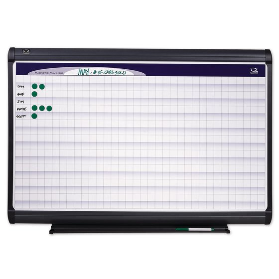 "Quartet® Prestige Plus® Magnetic DuraMax® Porcelain Planning System, 4' x 3' Board with 1"" x 1"" Grid"