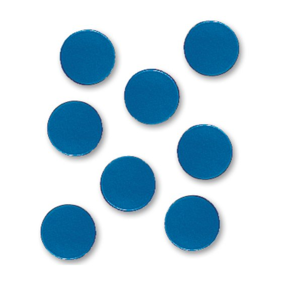 "Quartet® Magnetic Circles, 3/4"" Diameter, Blue, 20/Pack"