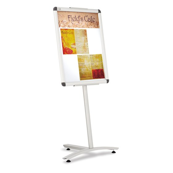 "Quartet® Improv™ Lobby Clip Frame Sign, 18"" x 24"" Display Frame, 54""H, Aluminum"