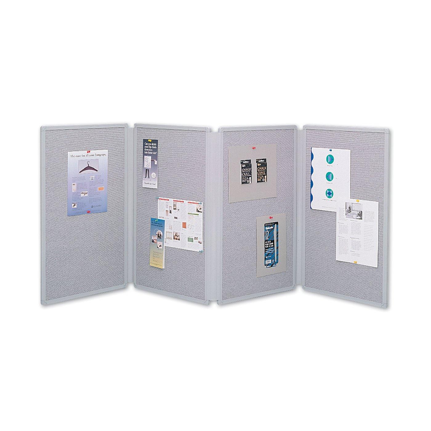 Quartet® Tabletop Display Board, 6u0027 X 2 1/2u0027, 4 Part 25