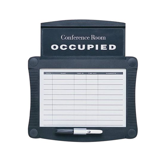 "Quartet® Conference Room Scheduler, 15 1/2"" x 14 1/4"", Dry-Erase, Graphite"
