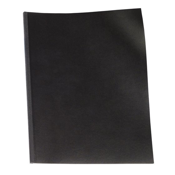 "GBC Binding Presentation Covers, Regency, 8 1/2"" x 11"", Black, 50 Pack"