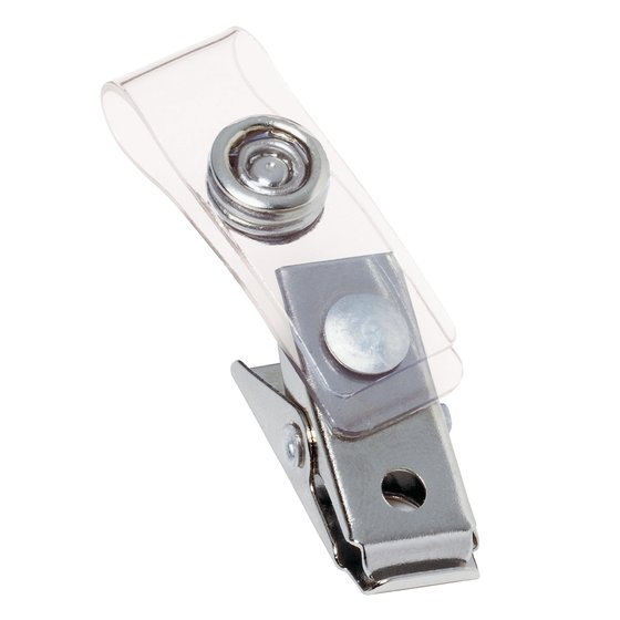 GBC ID Badge Clips, Clear, Badge Holder Clip, 10 Per Pack (3747210)