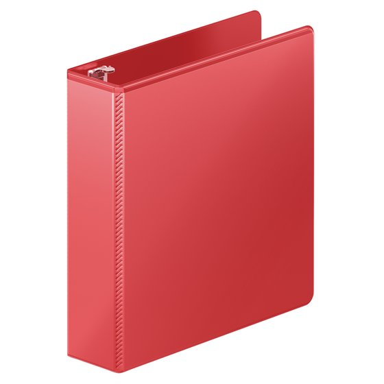 "Wilson Jones® Heavy Duty D-Ring View Binder with Extra Durable Hinge, 2"", Red"