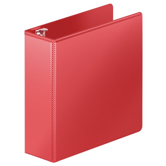 "Wilson Jones® Heavy Duty D-Ring View Binder with Extra Durable Hinge, 3"", Red"