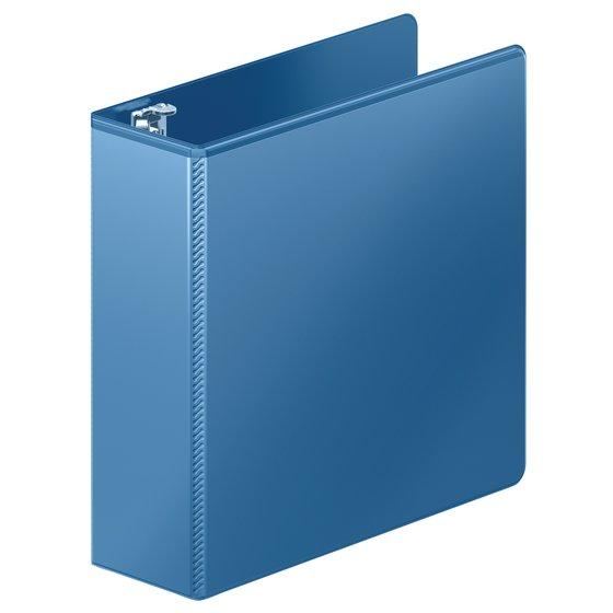 "Wilson Jones® Heavy Duty D-Ring View Binder with Extra Durable Hinge, 3"", PC Blue"