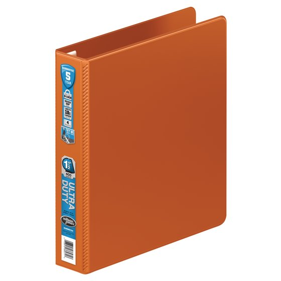 Wilson Jones® Ultra Duty D-Ring Binder with Extra Durable Hinge, 1 1/2""