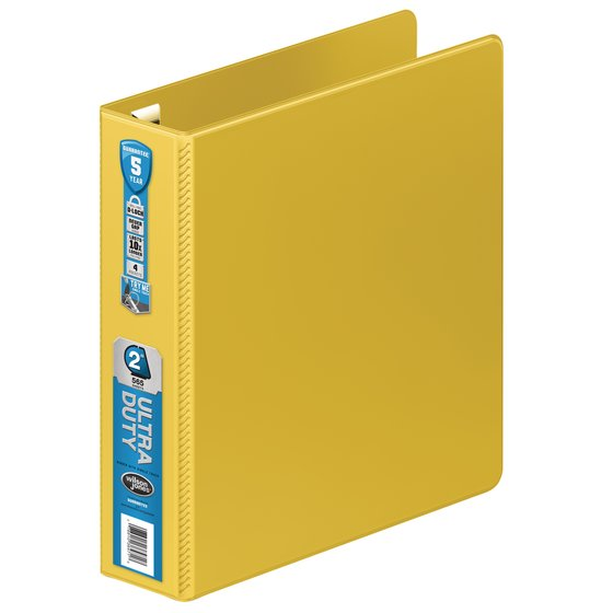 "Wilson Jones® Ultra Duty D-Ring Binder with Extra Durable Hinge,  2"", Yellow"