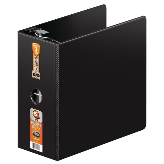 "Wilson Jones® Heavy Duty D-Ring Binder with Extra Durable Hinge, 5"", Black"