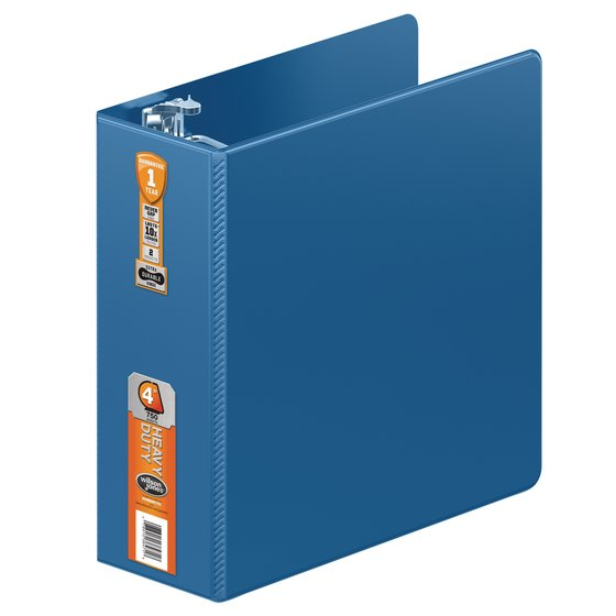 Wilson Jones® Heavy Duty D-Ring Binder with Extra Durable Hinge, 4""
