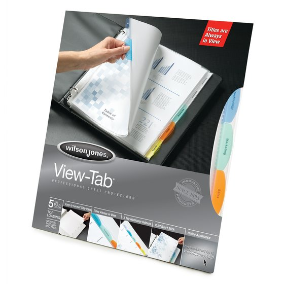 Wilson Jones® View-Tab® Sheet Protectors