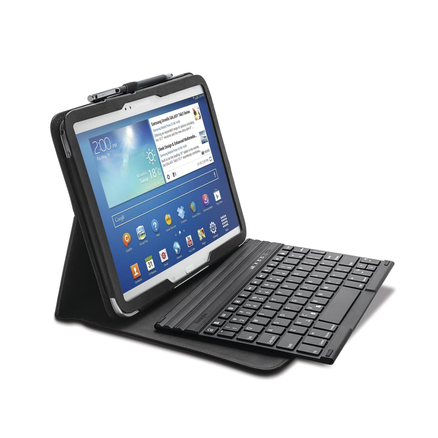 kensington products tablet smartphone accessories keyboard cases keyfolio pro folio. Black Bedroom Furniture Sets. Home Design Ideas