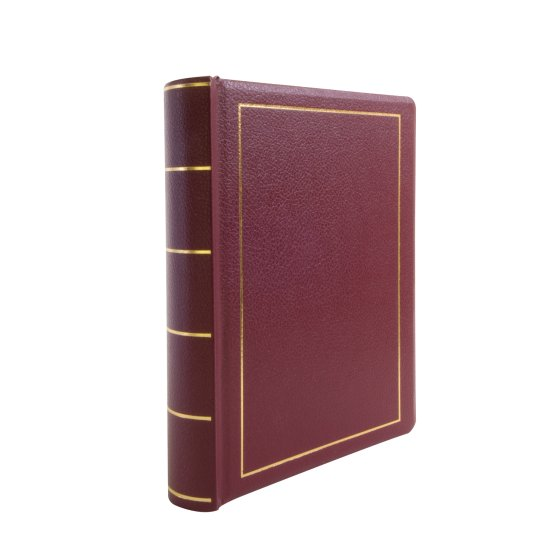"Wilson Jones® Minute Book Binder, Letter Size 8 1/2"" x 11"", Holds 250 Pages, Red Imitation Leather"