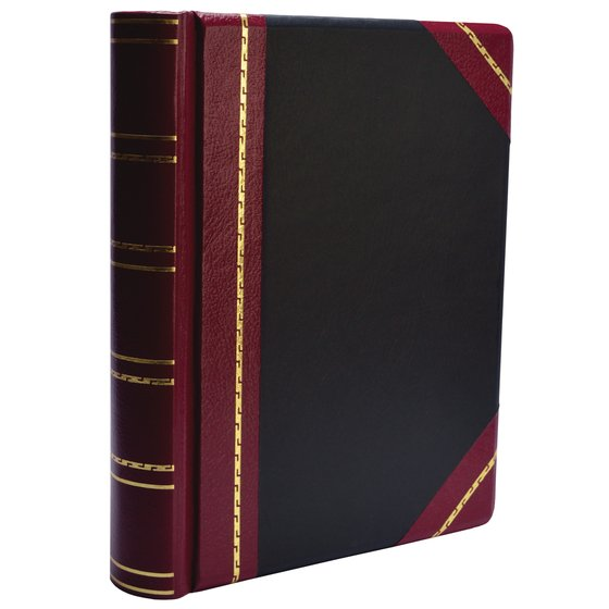 Wilson Jones® Minute Book, 500 Sheet Capacity, Red/Black Imitation Leather