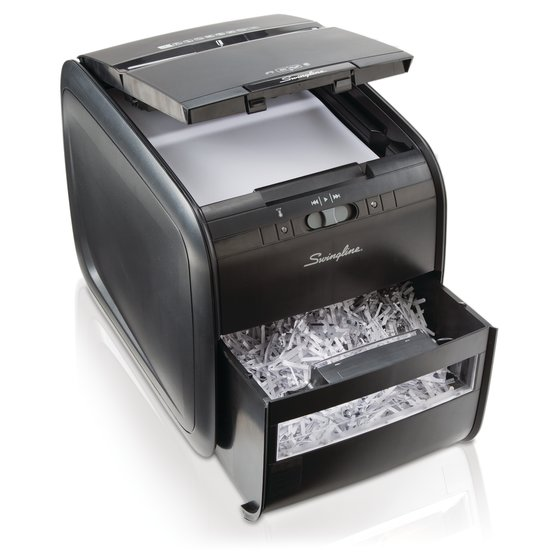 Swingline® Stack-and-Shred™ 60X Auto Feed Shredder, Cross-Cut, 60 Sheets, 1 User
