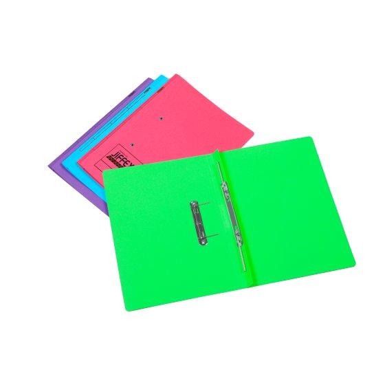 Jiffex Bright Foolscap Transfer Files Assorted (12)