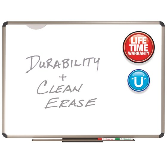 Quartet® Prestige Plus® DuraMax® Porcelain Magnetic Whiteboards, Euro™ Frame