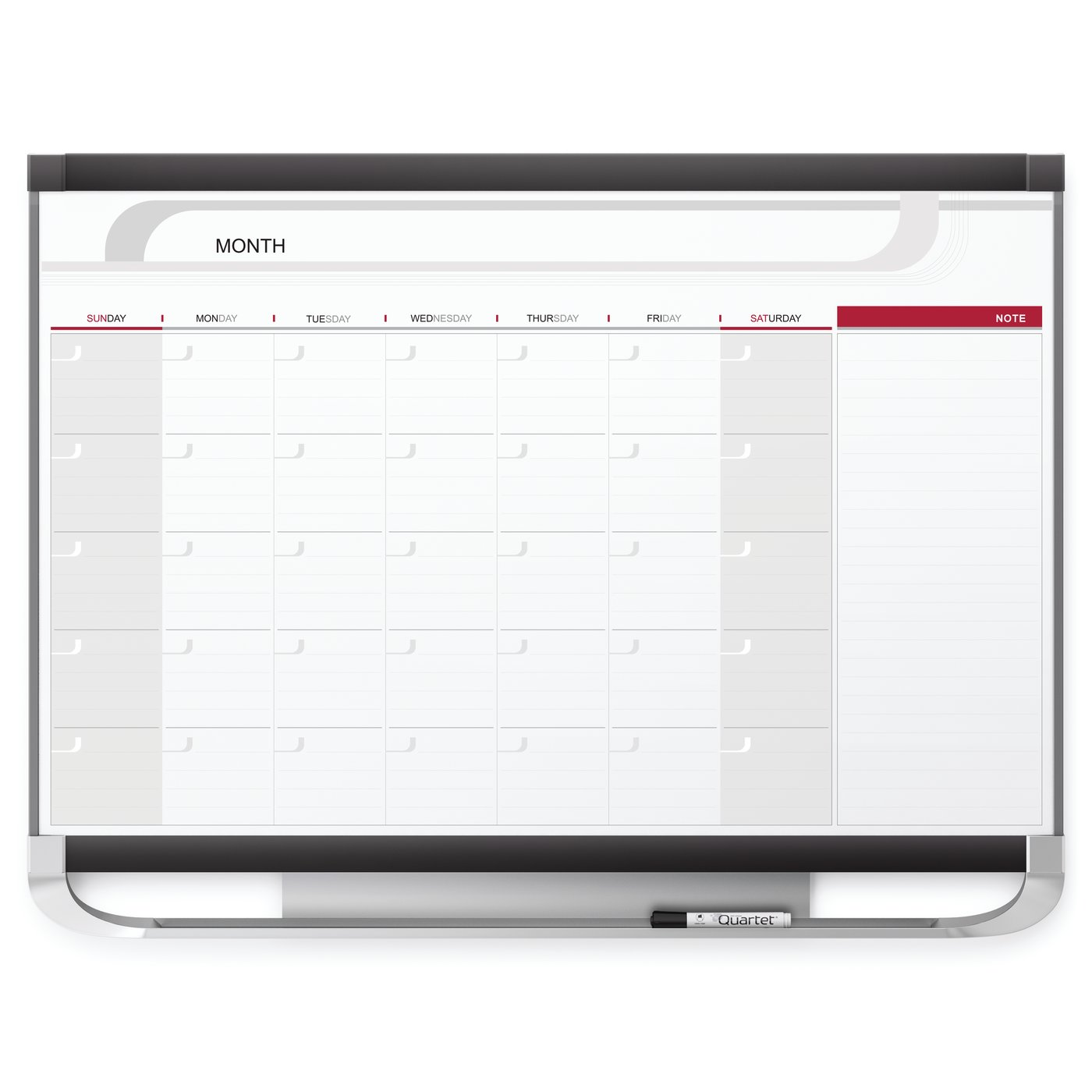 Quartet Boards Specialty Whiteboards Whiteboard Calendars