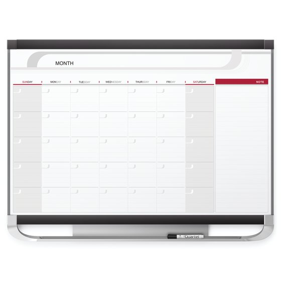 Quartet® Prestige® 2 Magnetic Monthly Calendar Boards