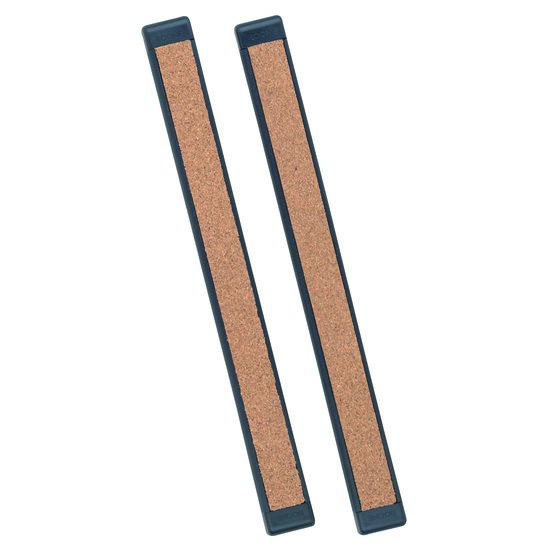 "Quartet® Bulletin Bar® III, 12"" Length, Cork, Black Plastic Frame, 2 Pack"