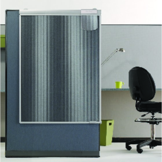 "Quartet® Workstation Privacy Screen, 36"" x 48"", Sliding, Partial Length"