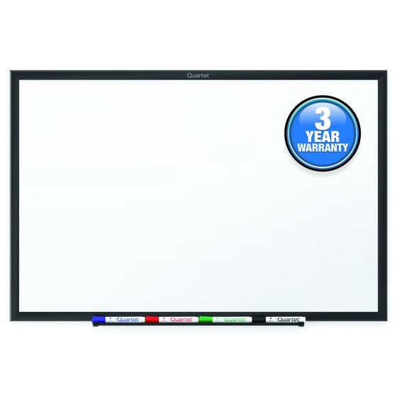Quartet® Standard Whiteboards, Black Aluminum Frame