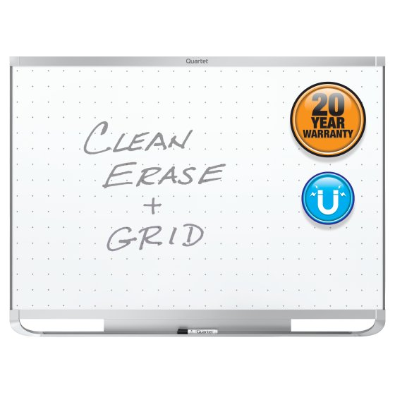 Quartet® Prestige® 2 Total Erase® Magnetic Whiteboards, Silver Aluminum Frame