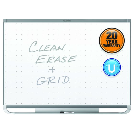 Quartet® Prestige® 2 Total Erase® Magnetic Whiteboards, Graphite Finish Frame
