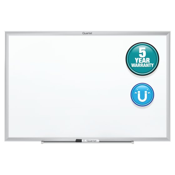 Quartet® Classic Magnetic Whiteboards, Silver Aluminum Frame