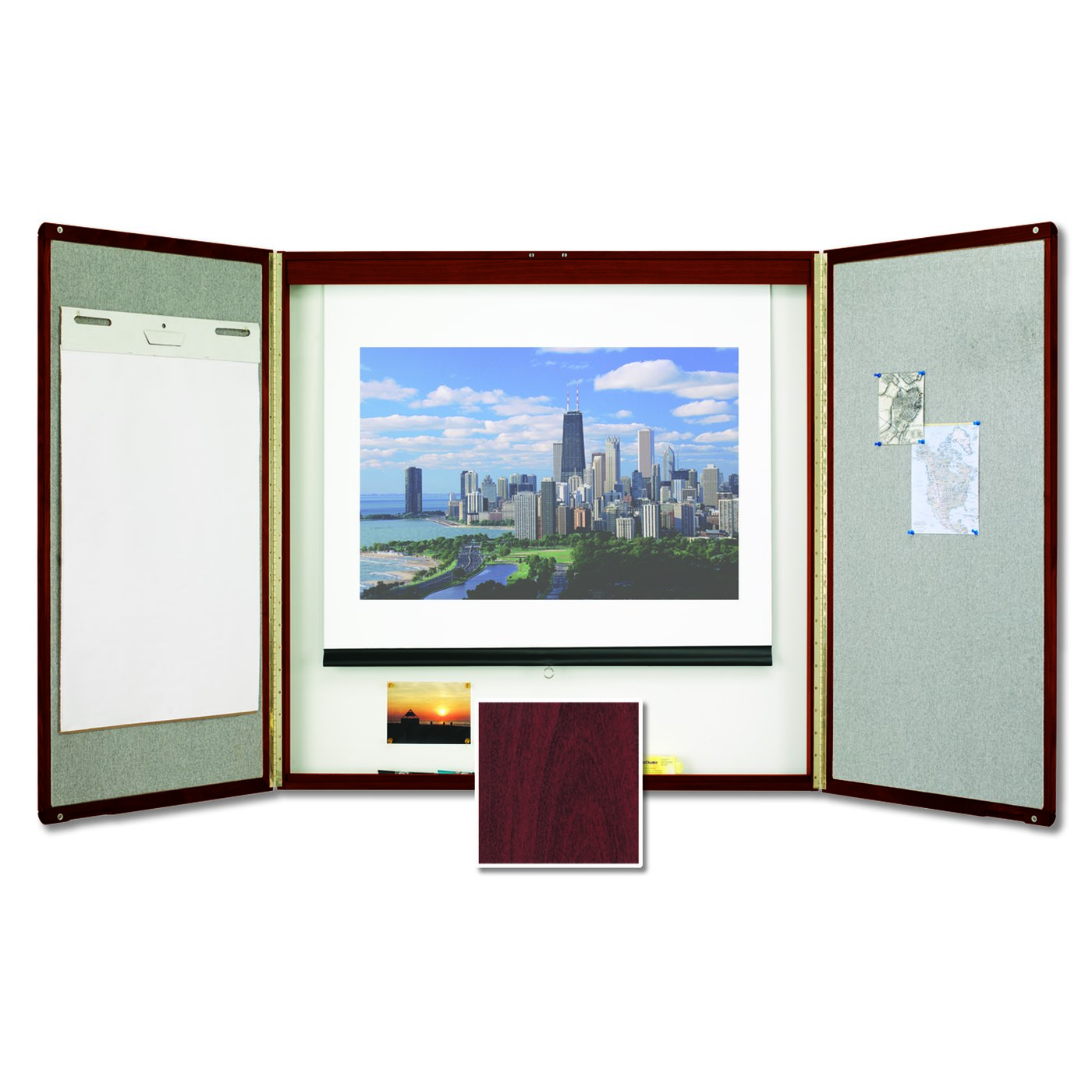 Attirant Quartet® Premium Conference Room Cabinet, 4u0027 X 4u0027, Whiteboard Interior With